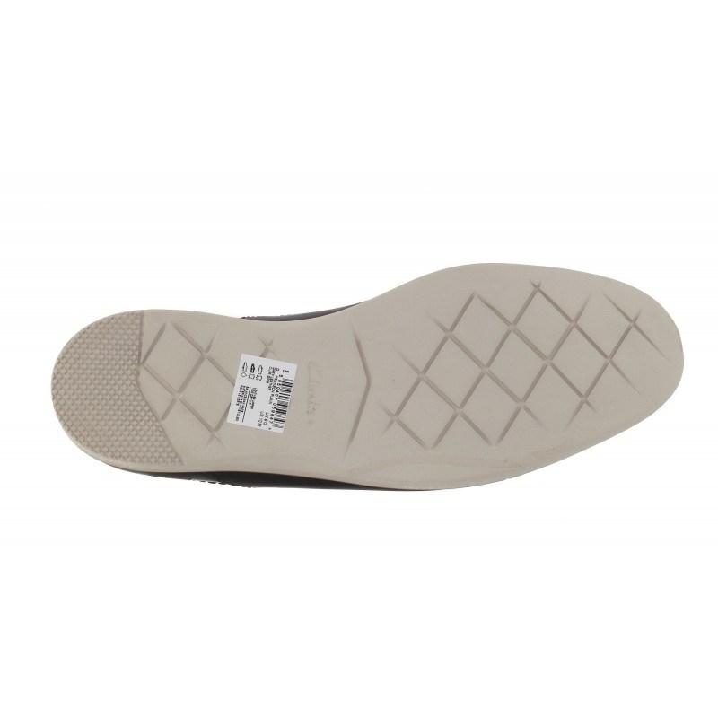Мъжки кожени обувки с връзки Clarks Franson Plain