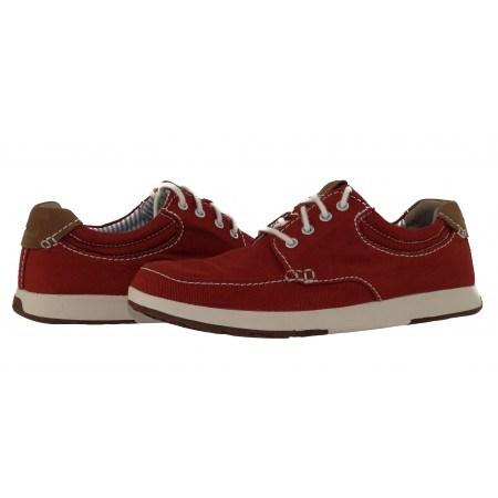 Мъжки спортно-ежедневни обувки Clarks Norwin Vibe червени