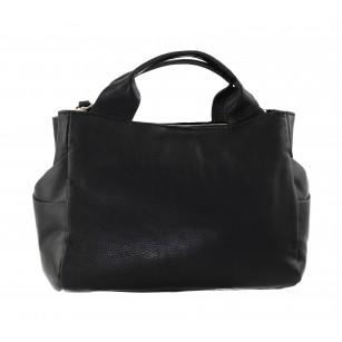 Дамска голяма чанта Clarks Talara Star от естествена кожа черна