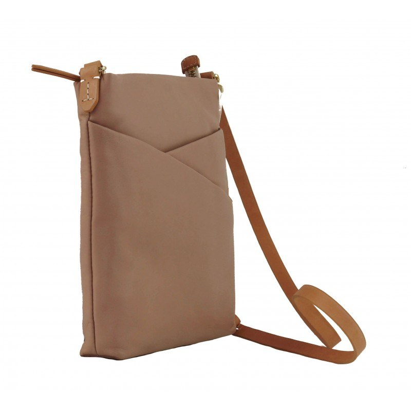 Дамска малка кожена чанта Clarks Tottington Duo розова