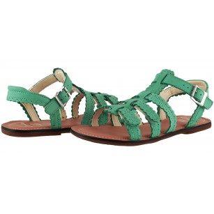 2600cf5a37e Детски сандали за момиче Clarks Loni Moon Jnr естествена кожа зелени