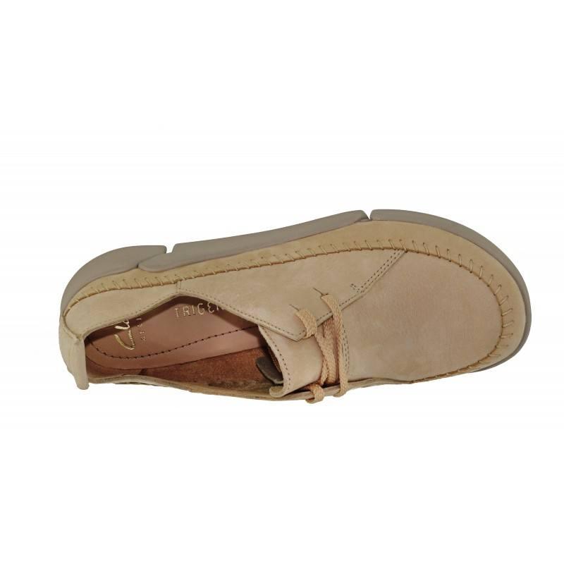Дамски спортно-ежедневни обувки Clarks Tri Angel естествена кожа светли