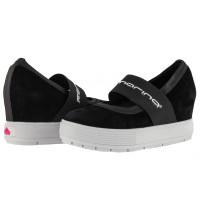 Дамски обувки на платформа Fornarina черни