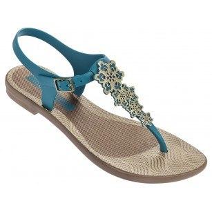 Дамски равни сандали Grendha ROMANTIC FEM сини