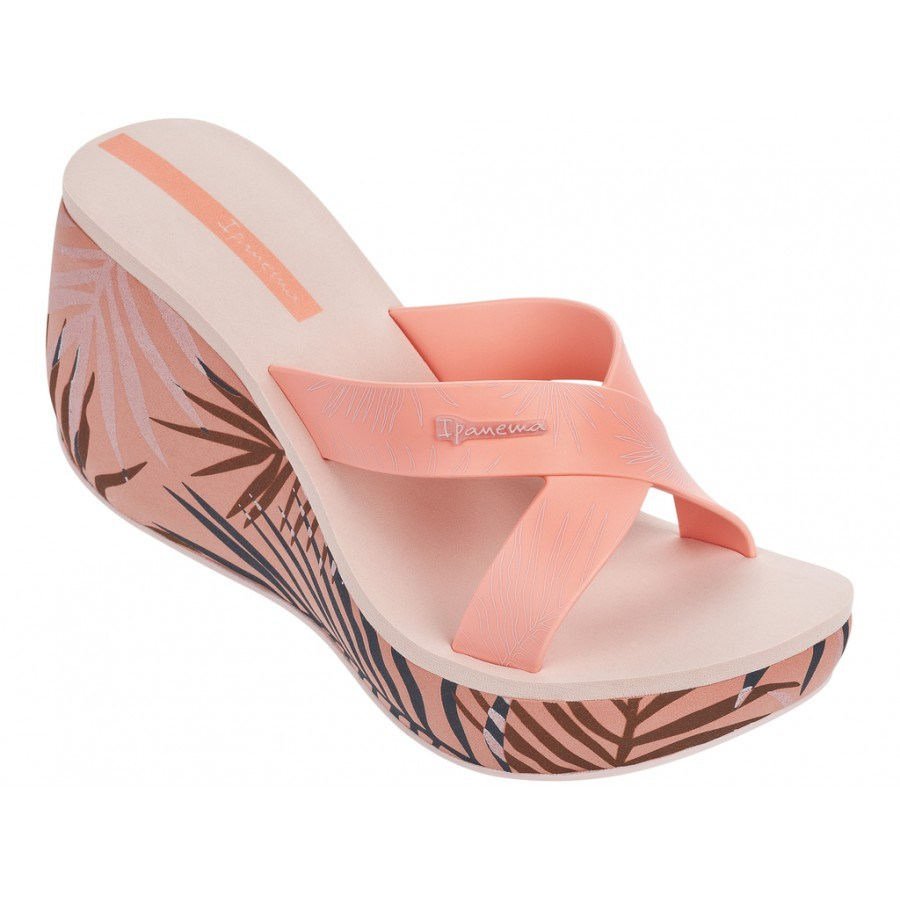 Дамски чехли на платформа Ipanema LIPSTICK STRAPS III FEM оранжеви