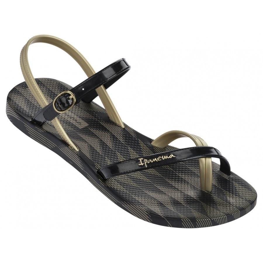 Дамски сандали равни Ipanema FASHION SAND IV FEM черни/златисти