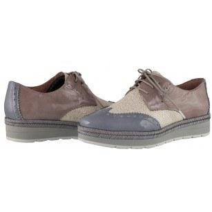 Дамски кожени обувки на платформа Hispanitas розови/комби