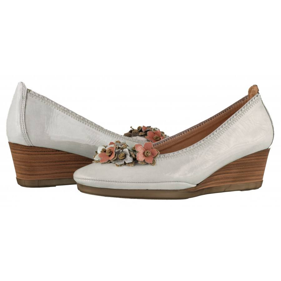 Дамски обувки на платформа Hispanitas естествена кожа бели