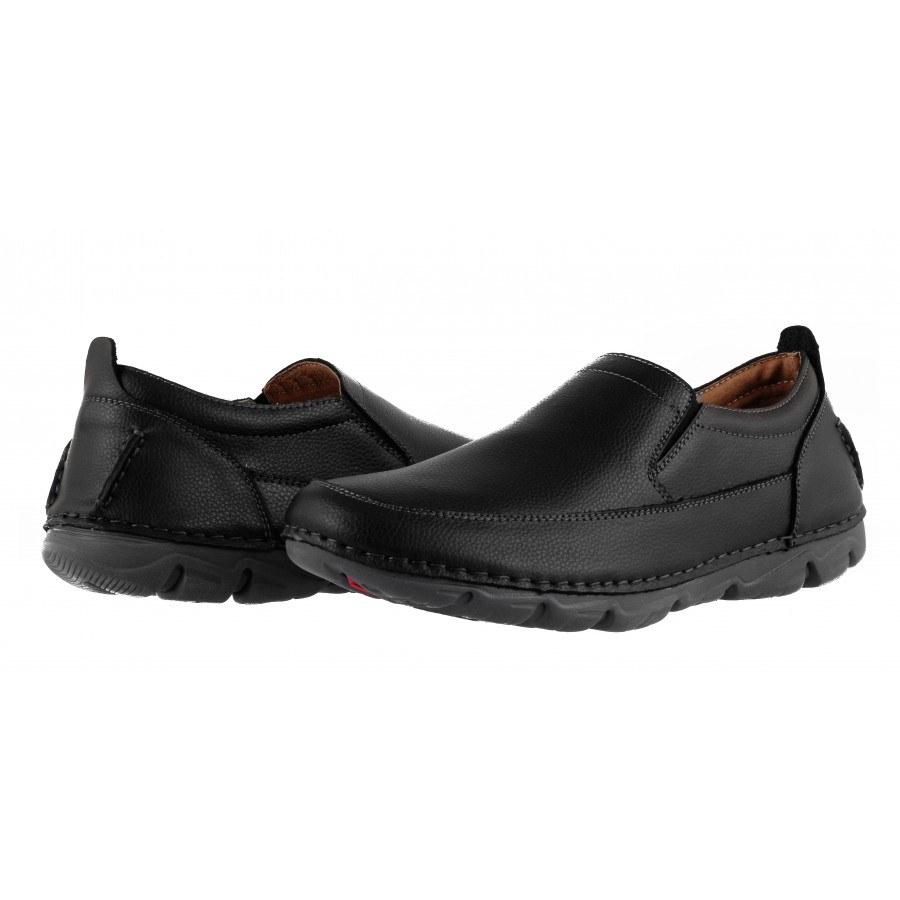 Мъжки ежедневни обувки без връзки Mania черни