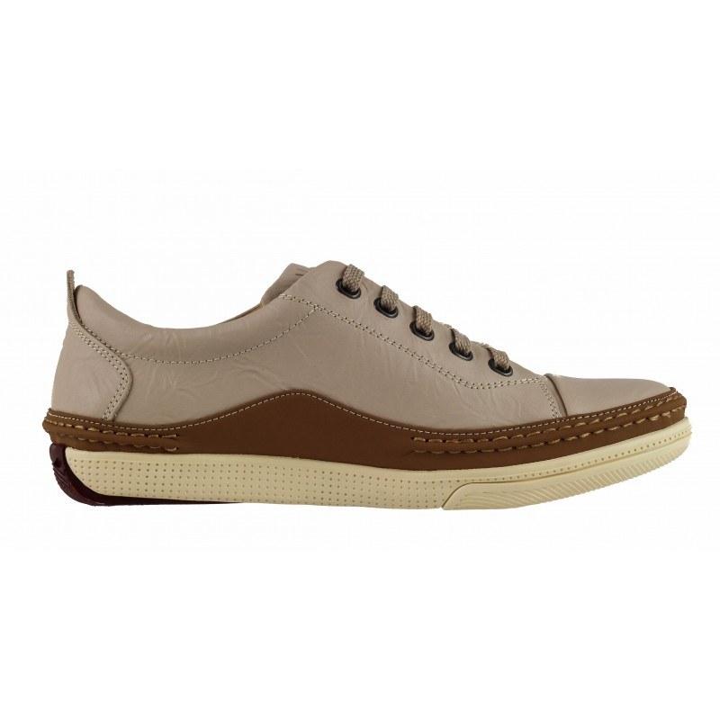 Мъжки обувки от естествена кожа с връзки Mania бежови