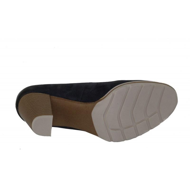 Дамски обувки на ток Marco Tozzi естествена кожа сини