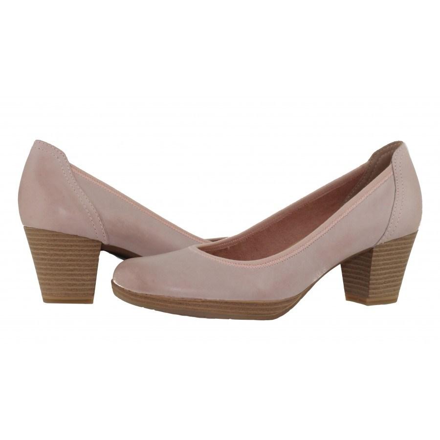 Дамски елегантни обувки на ток Marco Tozzi розови