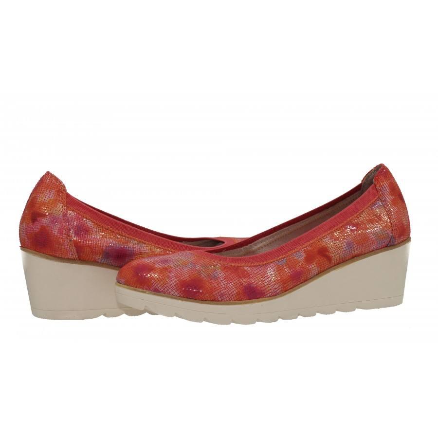 Дамски обувки на платформа флорални Marco Tozzi мемори пяна
