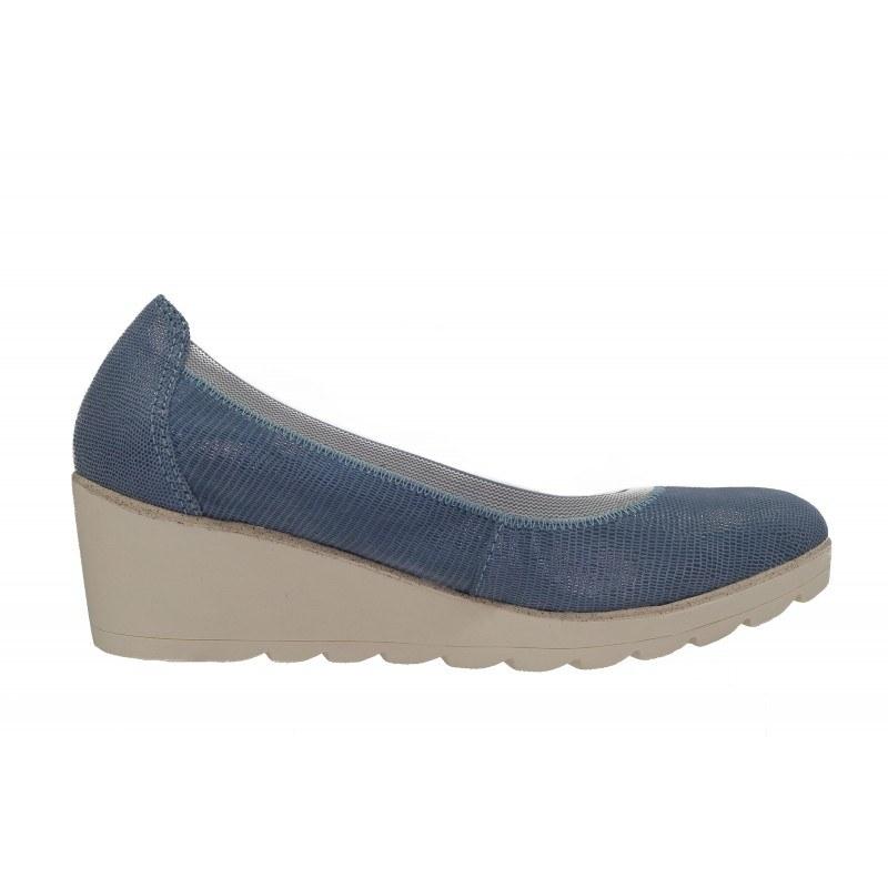 Дамски обувки на платформа сини Marco Tozzi мемори пяна