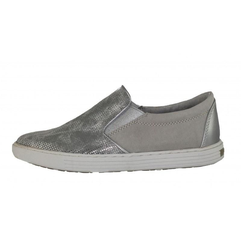 Дамски равни спортни обувки Marco Tozzi сребристи