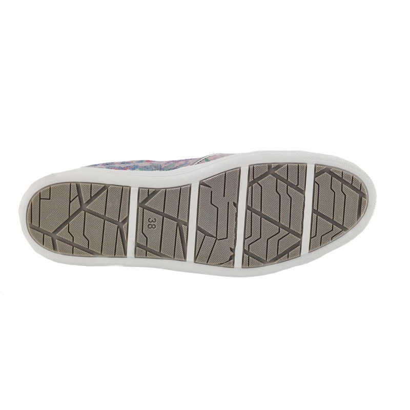 Дамски равни спортни обувки Marco Tozzi флорални комби мемори пяна