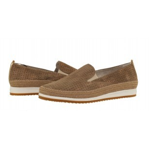 Дамски равни обувки от естествен велур Marco Tozzi бежови