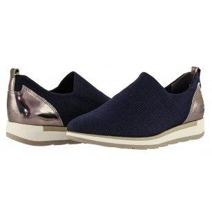 Дамски спортни обувки без връзки Marco Tozzi тъмно сини мемори пяна