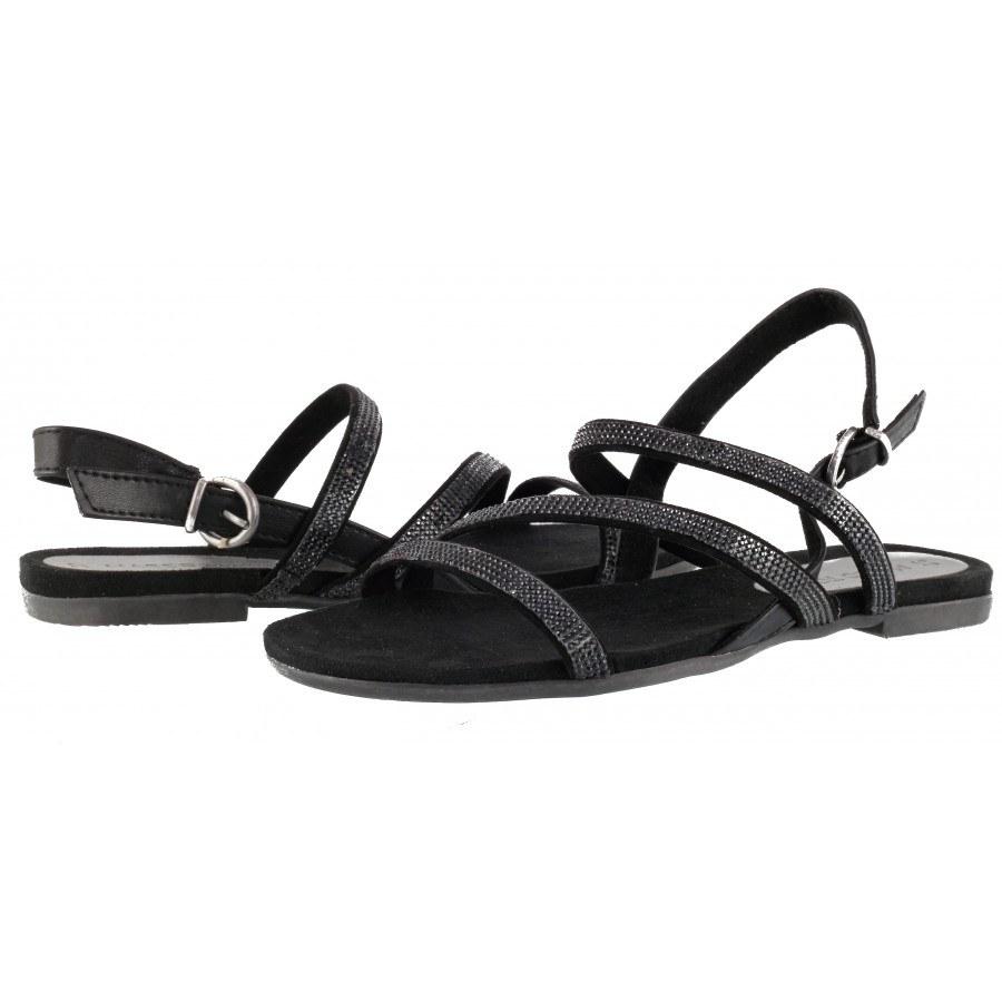 Дамски анатомични сандали Marco Tozzi черни