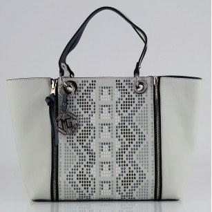 Дамска чанта Marina Galanti® Firenze светло синя Quattro Patent комбинация