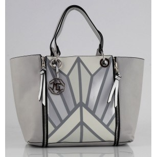 Дамска голяма чанта Marina Galanti® Firenze off white Quattro Patent комбинация