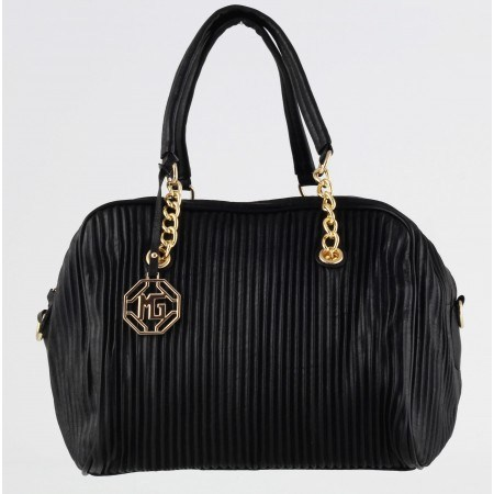 Дамска средна чанта куфарче Marina Galanti® Firenze черна