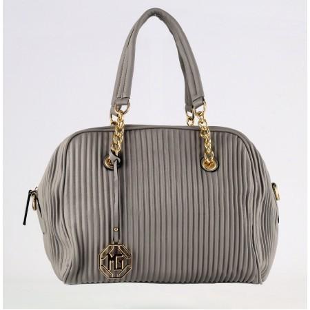 Дамска средна чанта куфарче Marina Galanti® Firenze сива