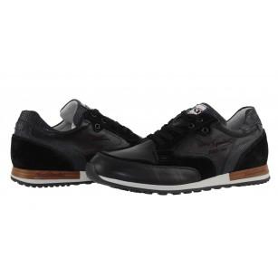 Мъжки италиански спортни обувки черни Nero Giardini естествена кожа