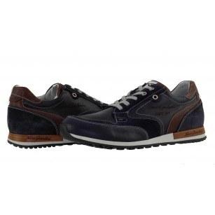 Мъжки италиански спортни обувки сини Nero Giardini естествена кожа