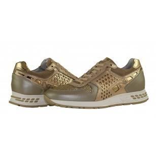 Дамски италиански спортни обувки златисти Nero Giardini естествена кожа