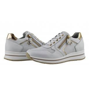 Дамски италиански спортни обувки бели Nero Giardini естествена кожа