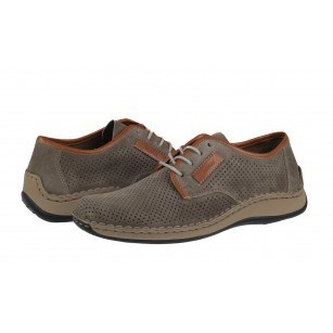 Мъжки пролетно-летни обувки Rieker естествена кожа сиви