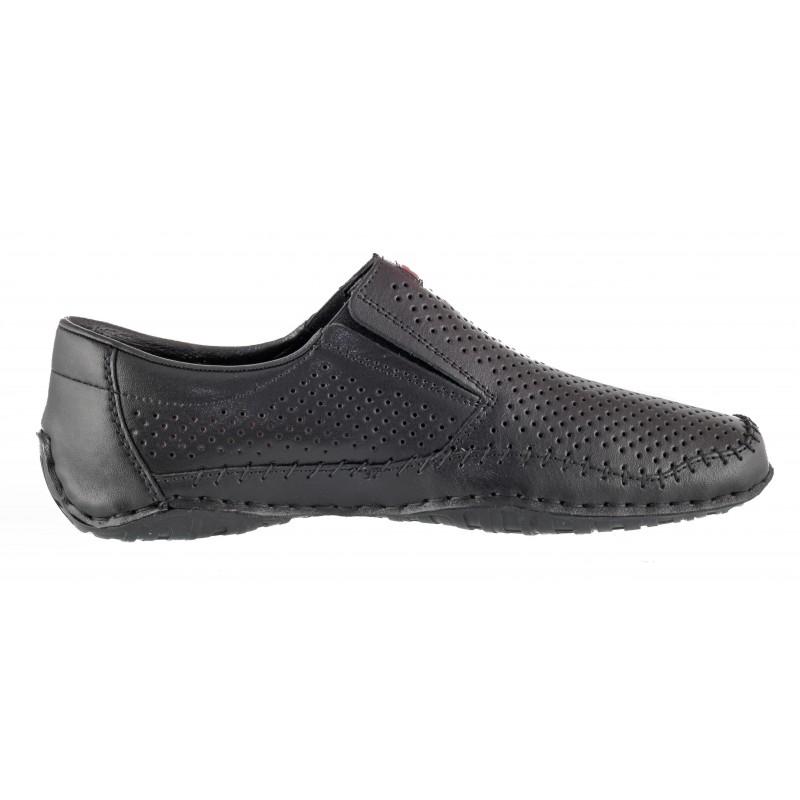 Мъжки обувки от естествена кожа Rieker ANTISTRESS черни 06376-00
