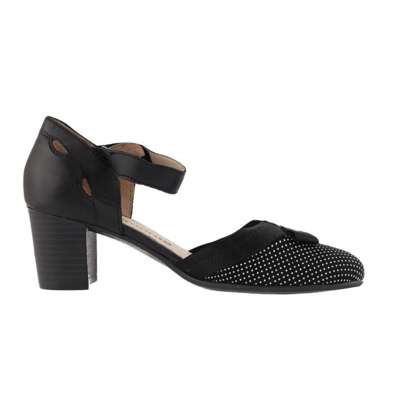 Дамски отворени обувки с ток Remonte черни