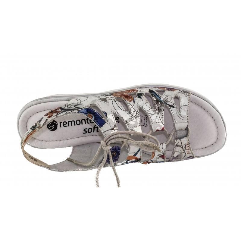 Дамски анатомични сандали естествена кожа Remonte флорални