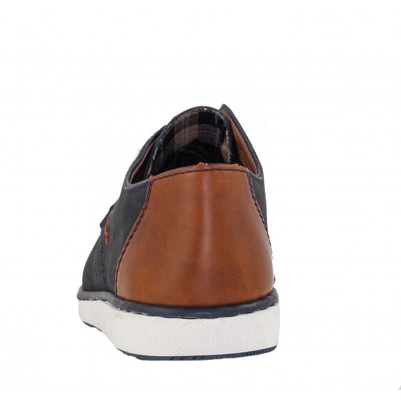 Мъжки обувки от естествена кожа Rieker сини 17833-14