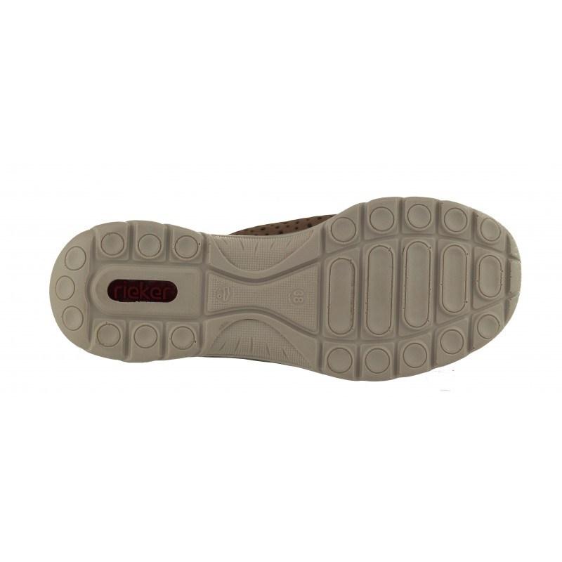 Дамски спортни обувки естествена кожа Rieker ANTISTRESS MemoSoft бежови