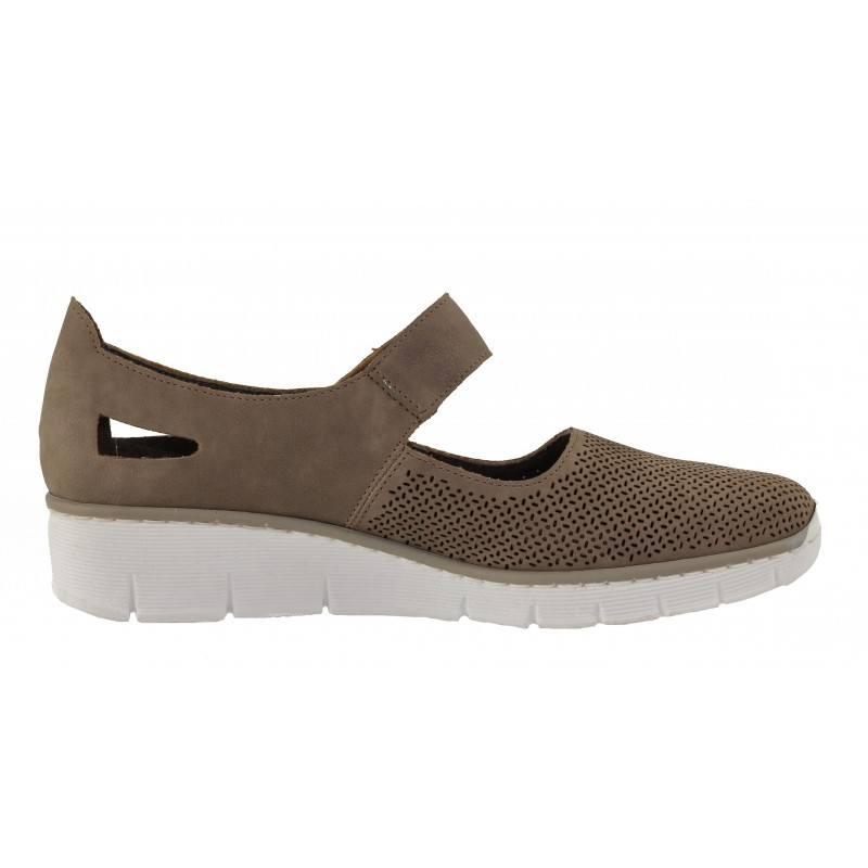Дамски анатомични пролетни обувки Rieker ANTISTRESS бежови