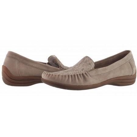 Дамски обувки тип мокасин бежово Remonte