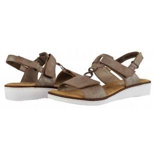Дамски анатомични сандали Rieker бежови  63687-64