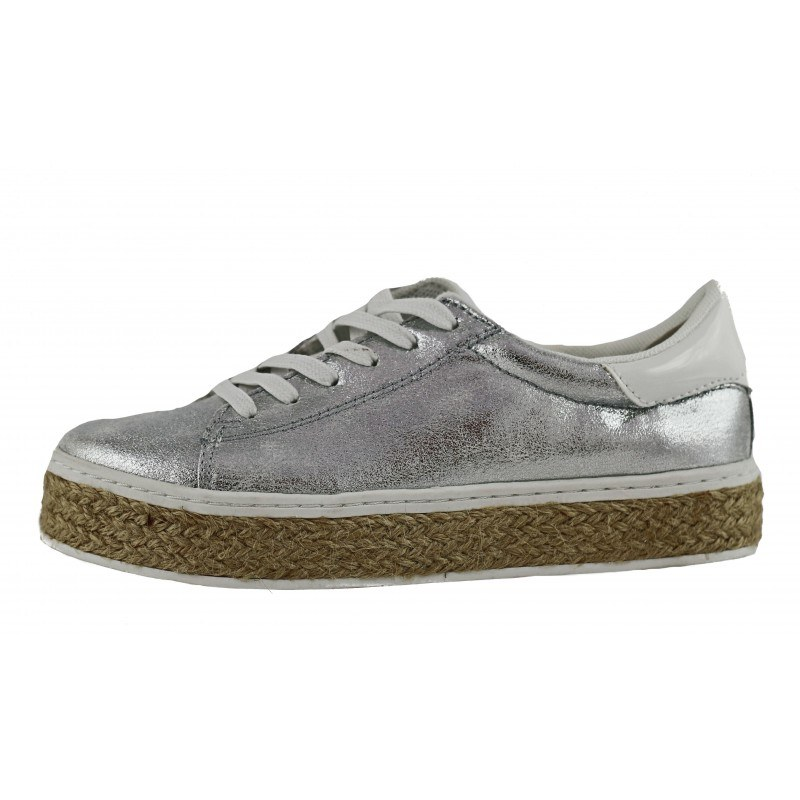 Дамски спортни обувки на платформа S.Oliver сребристи мемори пяна