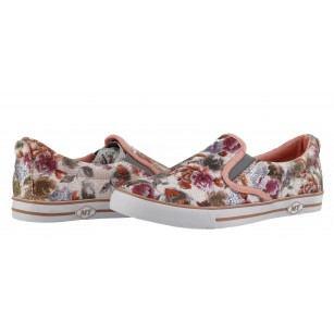 Дамски равни спортни обувки Marco Tozzi цветя комби