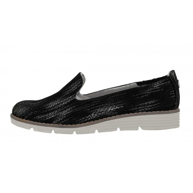 Дамски обувки с ниска платформа S. Oliver черни принт мемори пяна