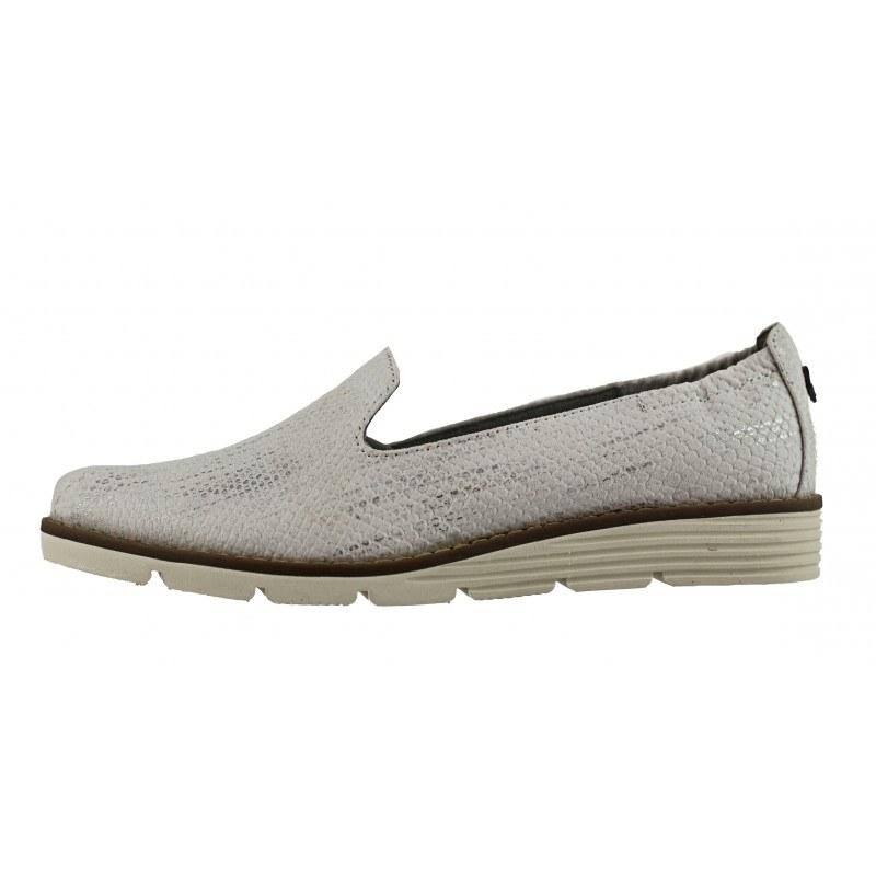 Дамски обувки с ниска платформа S. Oliver бели принт мемори пяна