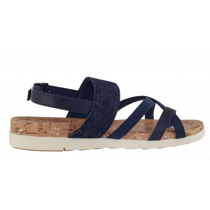 Дамски сандали с мека стелка S.Oliver деним