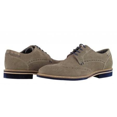 Мъжки елегантни обувки от естествен велур S.Oliver сиви