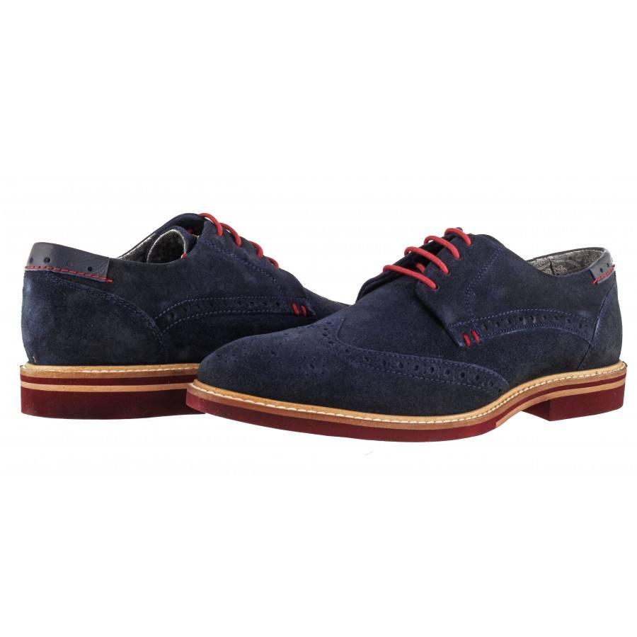 Мъжки елегантни обувки от естествен велур S.Oliver сини