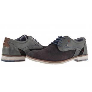 Мъжки обувки от естествена кожа S.Oliver сиви