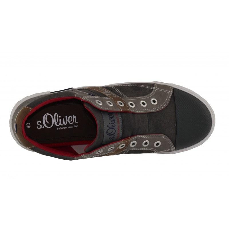 Мъжки спортни обувки S.Oliver без връзки сиви