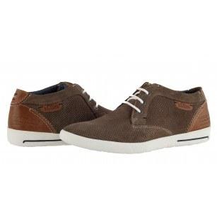 Мъжки спортни обувки естествена кожа S.Oliver кафяви